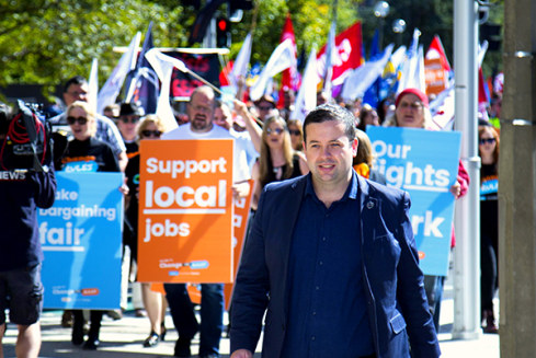 Alex White leading UnionsACT